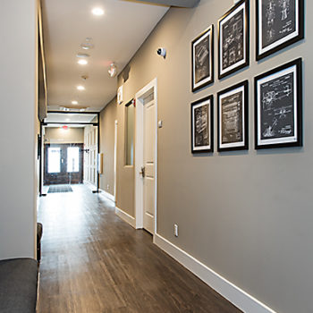 499 Chestnut Building Hallway - Private Office Suite Rental